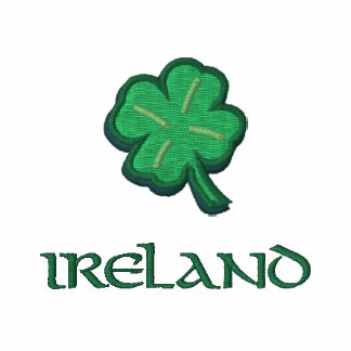 Ireland Irish Shamrock Embroidered Shirt