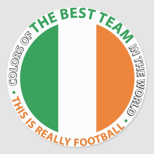 Ireland Irlanda Art Shield Pegatinas Redondas