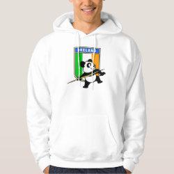 Men's Basic Hooded Sweatshirt with Irish Javelin Panda design