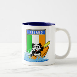Two-Tone Mug with Irish Kayaking Panda design