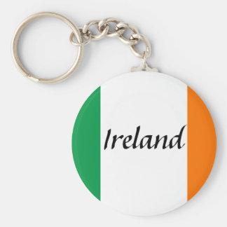 ireland basic round button keychain