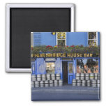 Ireland, Kilkenny. Exterior of pub with beer 2 Inch Square Magnet