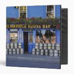 Ireland, Kilkenny. Exterior of pub with beer Binders