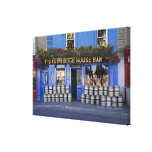 Ireland, Kilkenny. Exterior of pub with beer Canvas Print