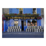 Ireland, Kilkenny. Exterior of pub with beer Greeting Card