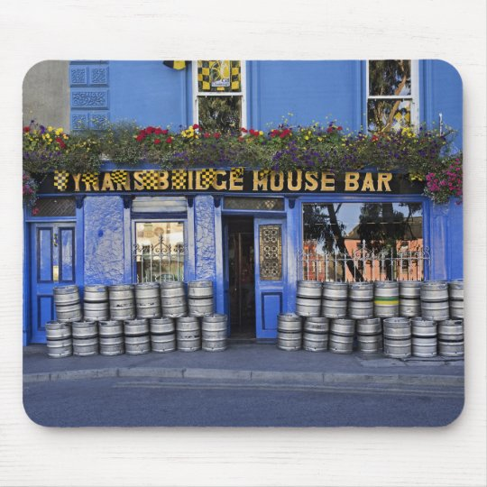 Ireland, Kilkenny. Exterior of pub with beer Mouse Pad