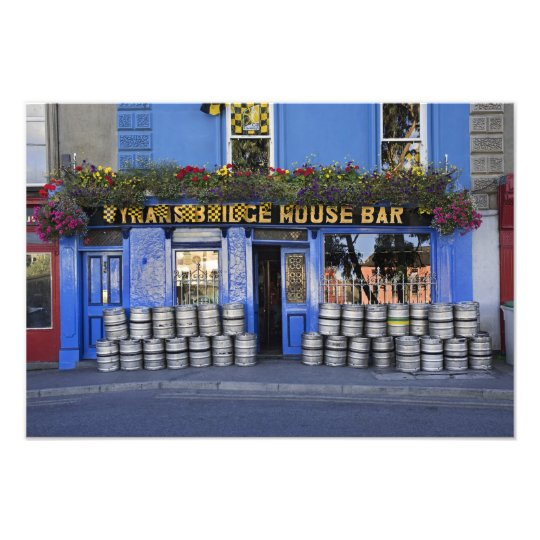 Ireland, Kilkenny. Exterior of pub with beer Photo Print