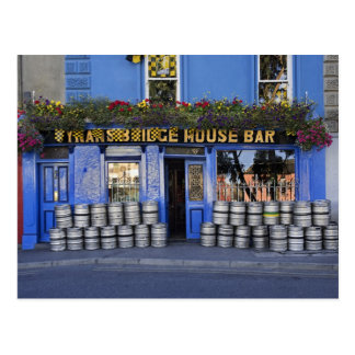 Ireland, Kilkenny. Exterior of pub with beer Postcard