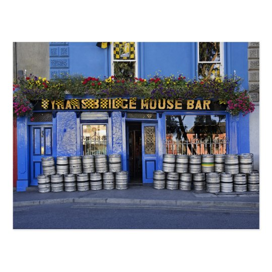 Ireland, Kilkenny. Exterior of pub with beer Postcard