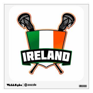 Ireland Lacrosse Irish Wall Decal