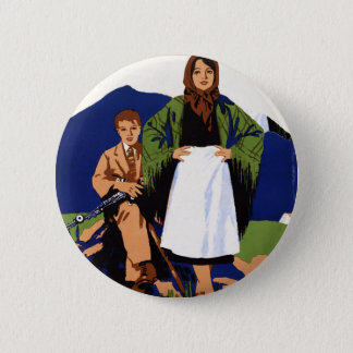 Ireland Land of Eternal Youth Vintage Button