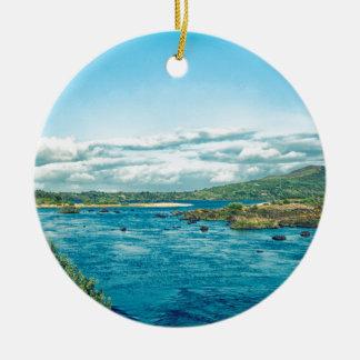 Ireland Landscape Ceramic Ornament
