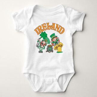 Ireland Leprechauns Baby Bodysuit