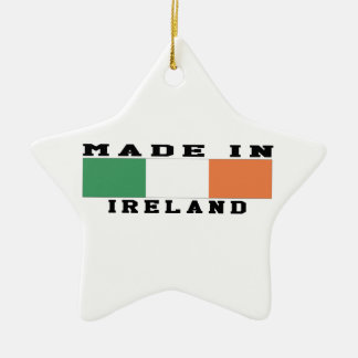Ireland Made In Designs Double-Sided Star Ceramic Christmas Ornament