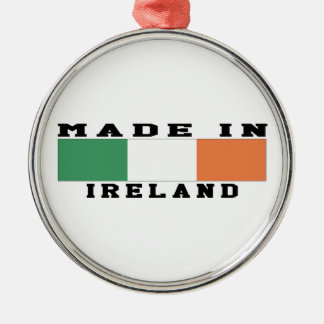 Ireland Made In Designs Round Metal Christmas Ornament