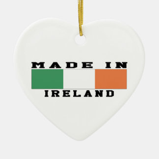 Ireland Made In Designs Double-Sided Heart Ceramic Christmas Ornament