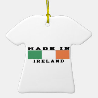Ireland Made In Designs Double-Sided T-Shirt Ceramic Christmas Ornament