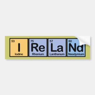 Ireland made of Elements Bumper Sticker
