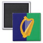 Ireland Magnet - Harp on Blue & Green