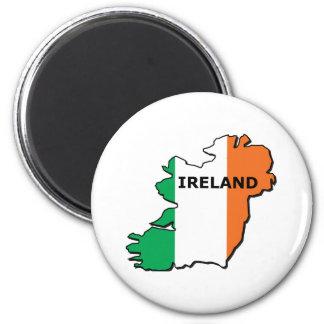 Ireland Map 2 Inch Round Magnet
