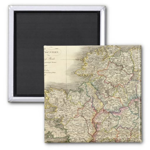 Ireland map 2 inch square magnet