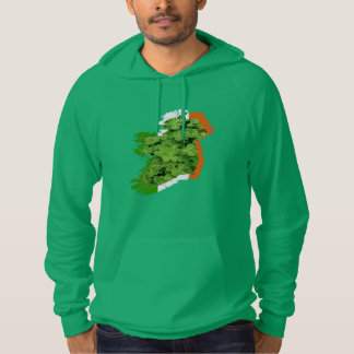 Ireland Map by Kenneth Yoncich Hoodie