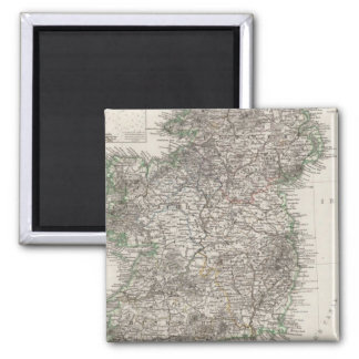Ireland Map by Stieler 2 Inch Square Magnet