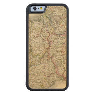 Ireland map carved maple iPhone 6 bumper case