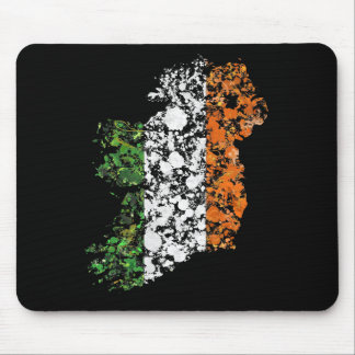 Ireland map & flag patriotic splatter painting mousepad