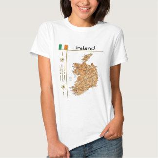 Ireland Map + Flag + Title T-Shirt