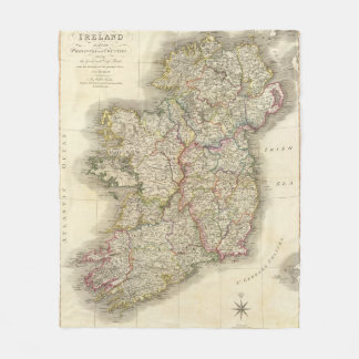Ireland map fleece blanket