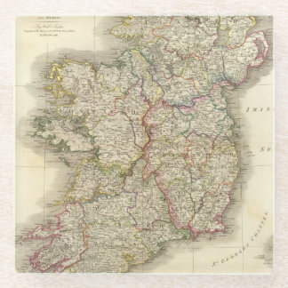 Ireland map glass coaster