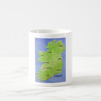 Ireland map - including cities classic white coffee mug