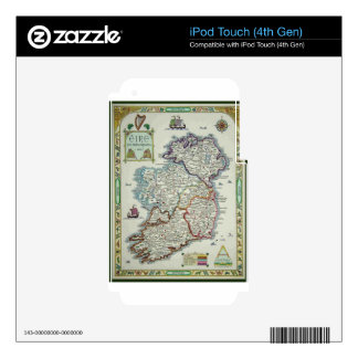 Ireland Map - Irish Eire Erin Historic Map Decals For iPod Touch 4G