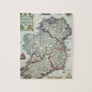 Interactive Jigsaw Map Of Ireland.Ireland Map Irish Eire Erin Historic Map Jigsaw Puzzle