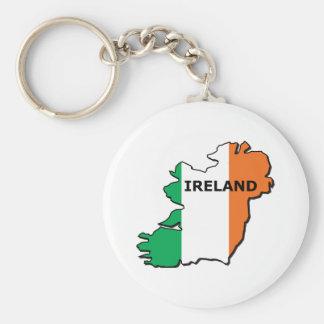 Ireland Map Basic Round Button Keychain
