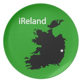 iReland Map Melamine Plate