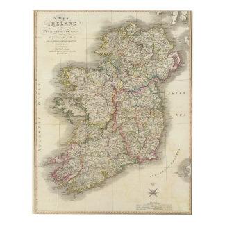 Ireland map panel wall art