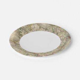Ireland map paper plate