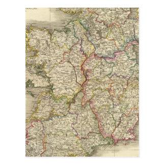 Ireland map post cards