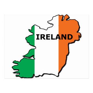 Ireland Map Postcards