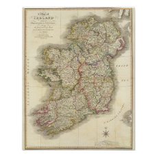 Ireland map poster