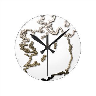 Ireland-Map Round Clock