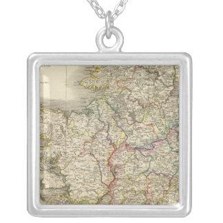 Ireland map square pendant necklace