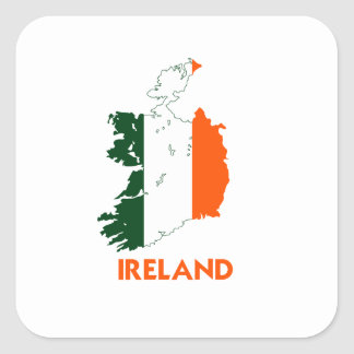 IRELAND MAP STICKERS