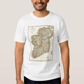 Ireland map t shirt