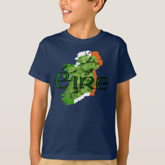 Ireland Map v2 by Kenneth Yoncich T-Shirt