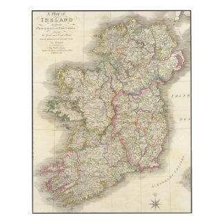 Ireland map wood wall art