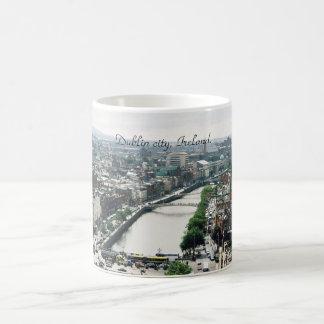 Ireland mug, Dublin city skyline Classic White Coffee Mug