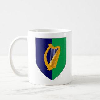 Ireland Mug - Harp on Blue & Green Shield